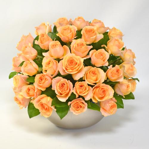 オレンジのバラのアレンジメント(大輪35本)