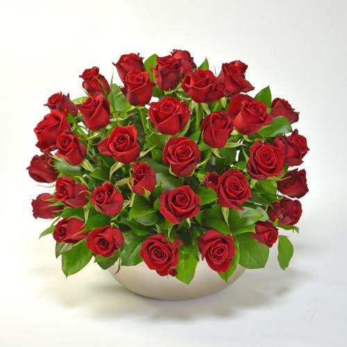 赤バラのアレンジメント(大輪35本)